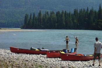 Rocky Mountain Nationalparks - Kanutour auf dem Athabasca River