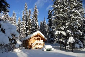Tagish Wilderness Lodge - Cabin im Winter