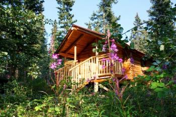 Cabin an der Tagish Wilderness Lodge